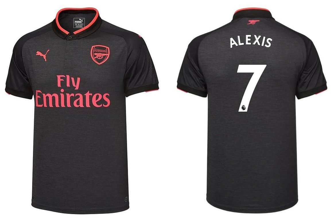 Trikot Kinder Arsenal London 2017-2018 Third - Alexis 7