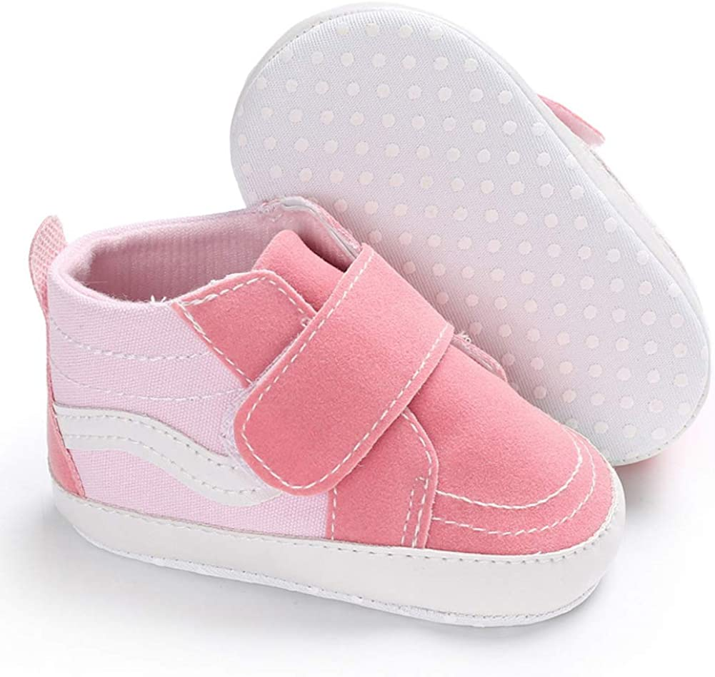 Pink 6-8M Baby Canvas Shoes Infants Toddler Autumn Thickening Soft Sole Canvas Shoes Sneakers Prewalker for Outdool