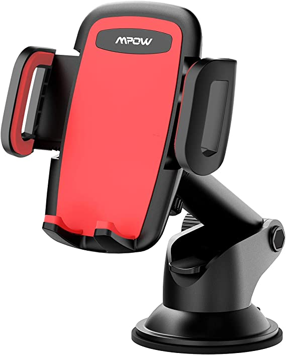 Mpow Car Phone Holder Red Galaxy Note 10 Phone Holder for Car Dashboard Windshield Car Phone Mount with Strong Sticky Pad with One-Touch Design Cell Phone Car Mount Compatible with iPhone 11 Pro X