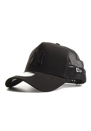 A NEW ERA Gorra Trucker League Essential N.Y. Yankees Negro Sobre Negro