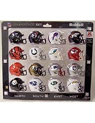 New Riddell AFC 2018 Pocket Pro Speed Mini Helmet Conference Set