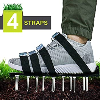 99cbeb813f90f Amazon.com   Lawn Aerator Spike Shoes - For Effectively Aerating ...