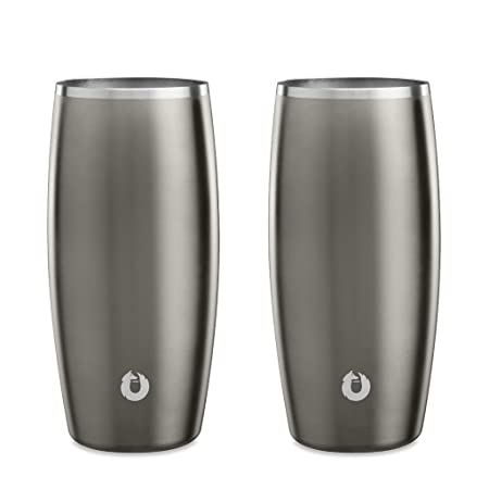 Snowfox Insulated Stainless Beer Glass