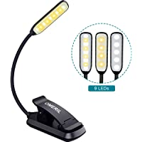9 LED Luz de Lectura Libro, OMERIL Lampara Lectura Recargable con Sensor Táctil, 3 Modos de Brillo Ajustable (Luz Cálido…