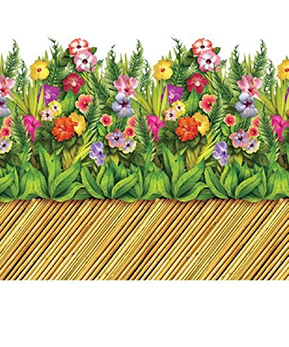 Tropical Flower & Bamboo Walkway Border Party Accessory (1 count) (1/Pkg)