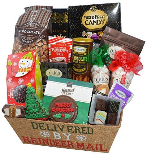 Sweet Treats Delivered by Reindeer Christmas Gift Basket (Medium)
