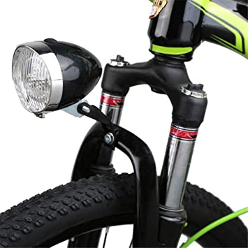 AZXAZ - Luz Delantera para Bicicleta con Soporte y 3 Luces LED ...