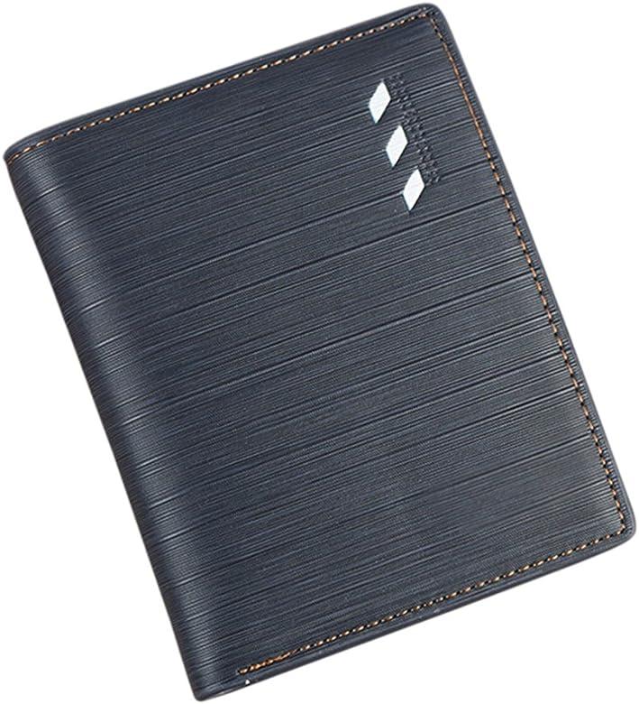 UK/_ Men/'s Faux Leather Bifold Purse ID Card Holder Multi-Slot Clutch Wallet Sple
