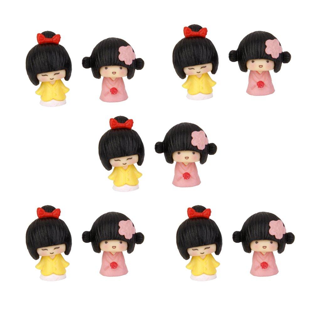 【アウトレット☆送料無料】 MagiDeal Craft 10Pcs B01CTNWHNI Miniature Dollhouse Bonsai Decor Craft Fairy Garden Glass Vase Kimono Girls Decor B01CTNWHNI, 恵那郡:cbd9a9de --- diceanalytics.pk