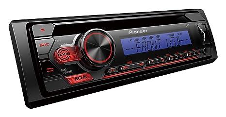 5-Band Equalizer 1DIN RDS-Autoradio mit roter Tastenbeleuchtung Display wei/ß Pioneer DEH-S110UB Android-Unterst/ützung USB AUX-Eingang ARC App MP3 CD