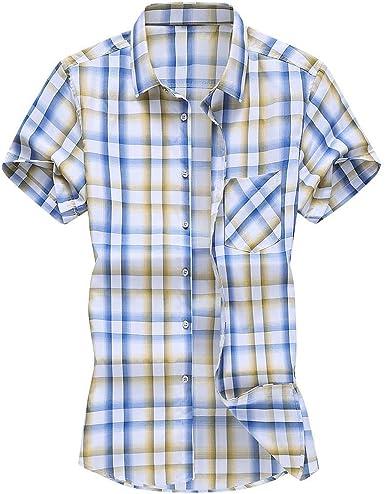Bascar Camisas para hombre, sin mangas, Oxford, M-XXXXL: Amazon.es: Ropa y accesorios