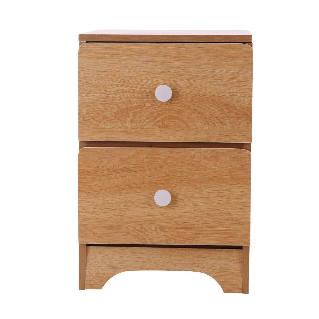 YIISU Bedside Nightstand Cabinet 2-Drawer, Bedroom Storgae Organizer End Side Table for Bed Sofa Home, Sturdy Dresser Wooden