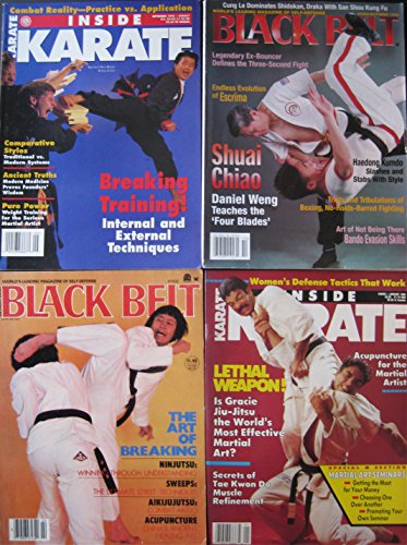 Mixed Lot Of 4 Martial Arts Magazines Rorion & Rickson Gracie Kuk Sool Won's Byung In Lee Covers