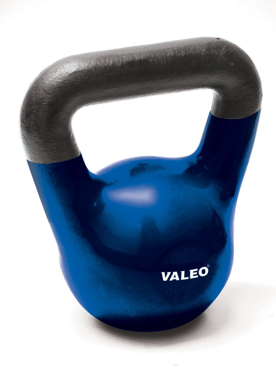 Valeo 35-Pound Kettle Bell Weight With Cast Iron Handle For Squats, Pulls and Overhead Throws To Build Strength And Endurance by Valeo