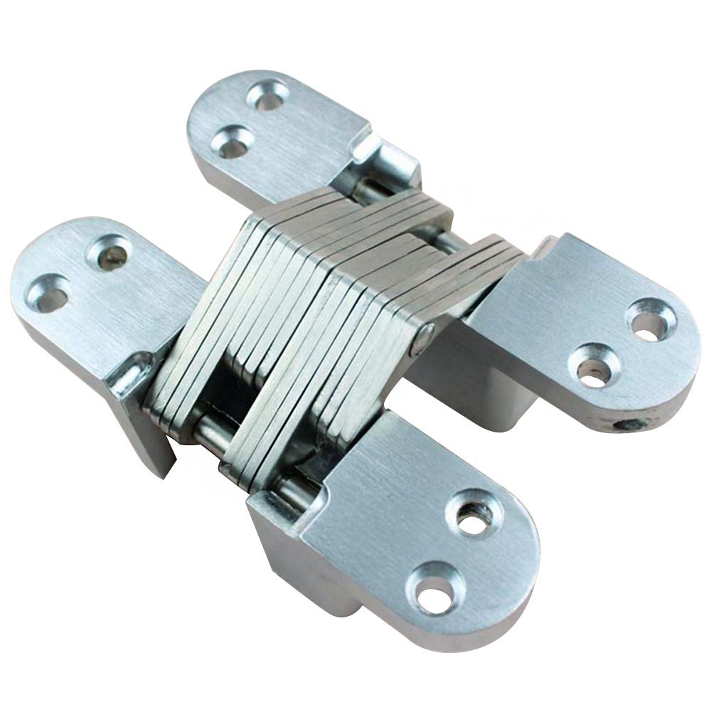 Btibpse Mortise Mount Invisible Hinge, 4-5/8'' Leaf Height, 1-1/8'' Leaf Width, 1-41/64'' Leaf Thickness
