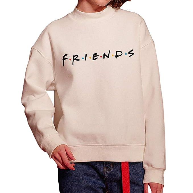 Mujer Sudaderas, Friends Imprimir Sudadera Pullovers Manga Larga Sudadera Cuello Redondo Camiseta Blusa Tops Suéter: Amazon.es: Ropa y accesorios