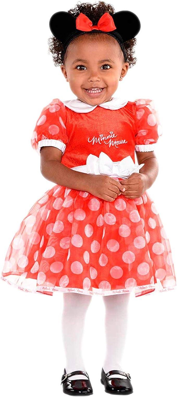 amscan DCMIN-DRR2 Disfraz de Minnie Mouse Rojo, 2 años - 3 Piezas ...