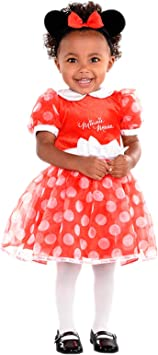 amscan DCMIN-DRR2 Disfraz de Minnie Mouse Rojo, 2 años - 3 ...