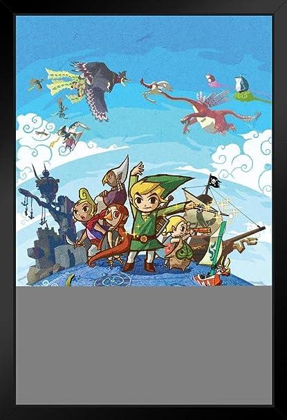 Amazon.com: Pyramid America Zelda Wind Waker Map Framed Poster 14x20 on