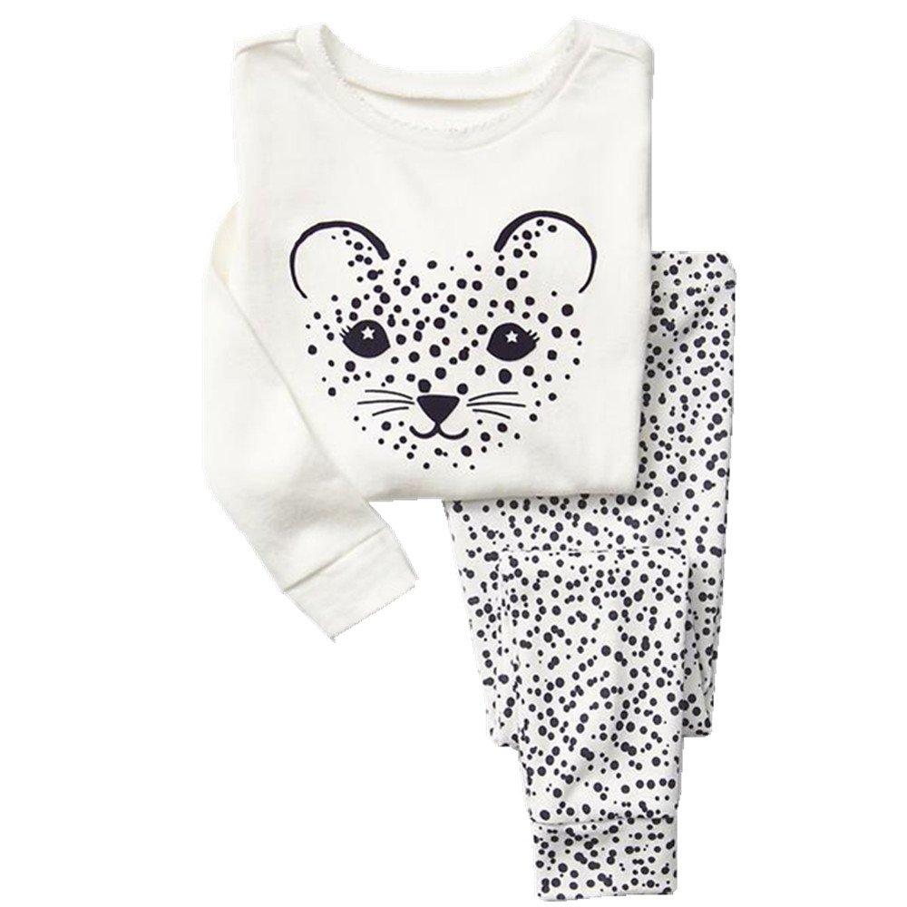 Qtake Fashion Mädchen Schlafanzug Pajamas1