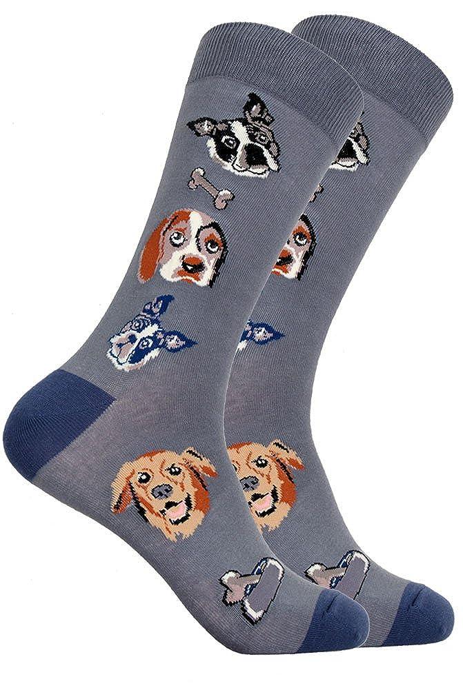 Mens Novelty Dog Lovers Mixed Dog Socks SOCKZ-77
