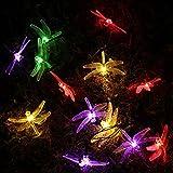 Qedertek Dragonfly Solar String Lights, 15.7ft 20