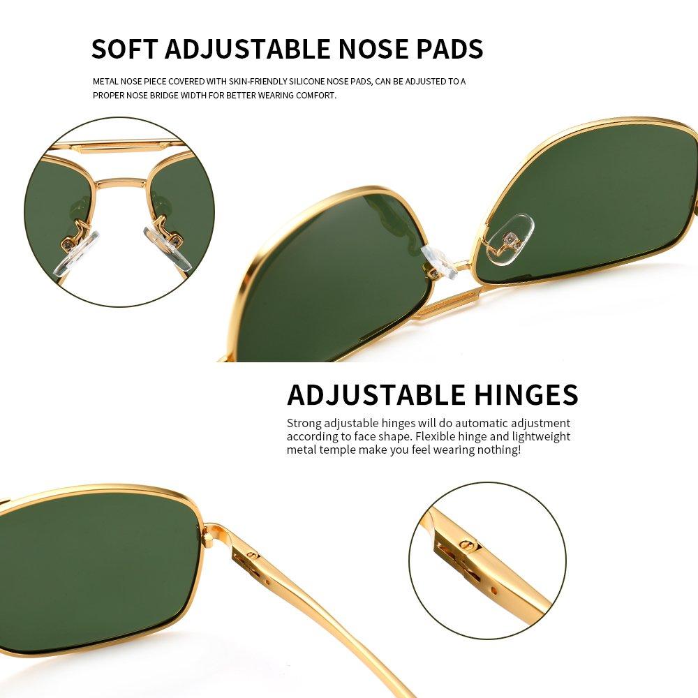 SUNGAIT Mens Polarized Sunglasses Durable Metal Frame for Fishing Driving Golf