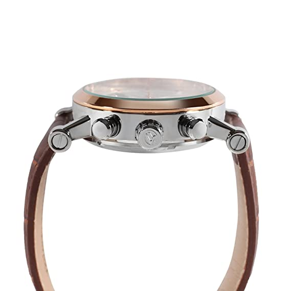 Amazon.com: Forsining Mens Steampunk Automatic Tourbillon Calendar Brown Genuine Leather Wrist Watch FSG2371M3T2: Watches
