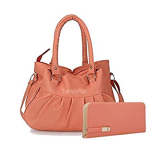 d9ae1385a7292c TrendyAge - Fashion Handbags For Women, Leather Handbags ladies, Designer Handbags  Women (Peach): Amazon.in: Shoes & Handbags