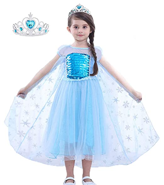 Amazon.com: Disfraz de Elsa de la Reina de la Nieve para ...