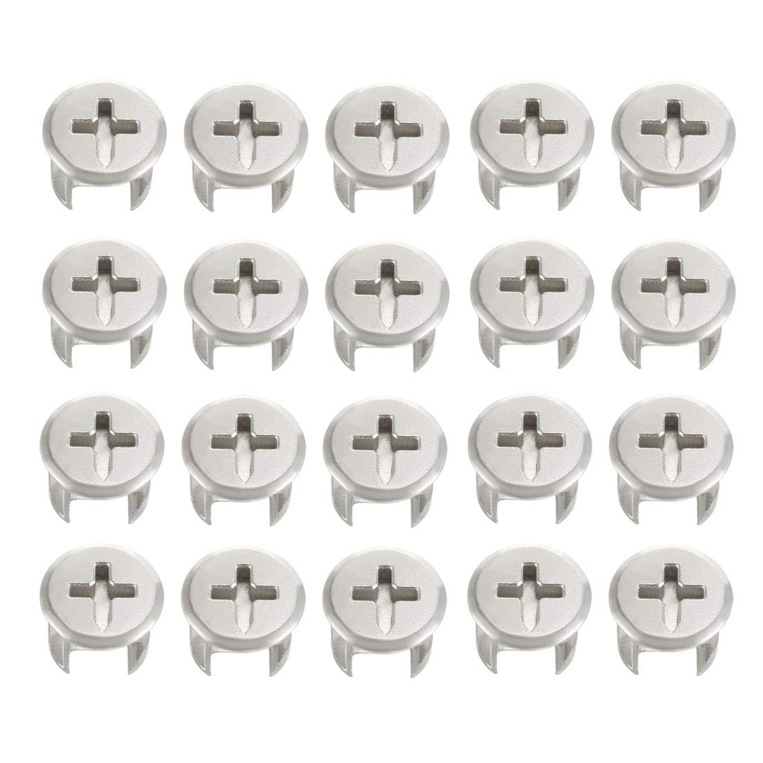 uxcell 20 Pcs Furniture Connecter Cam Lock Fittings 13mm x 11mm for Cabinet Drawer Dresser and Wardrobe Furniture Panel Connecting