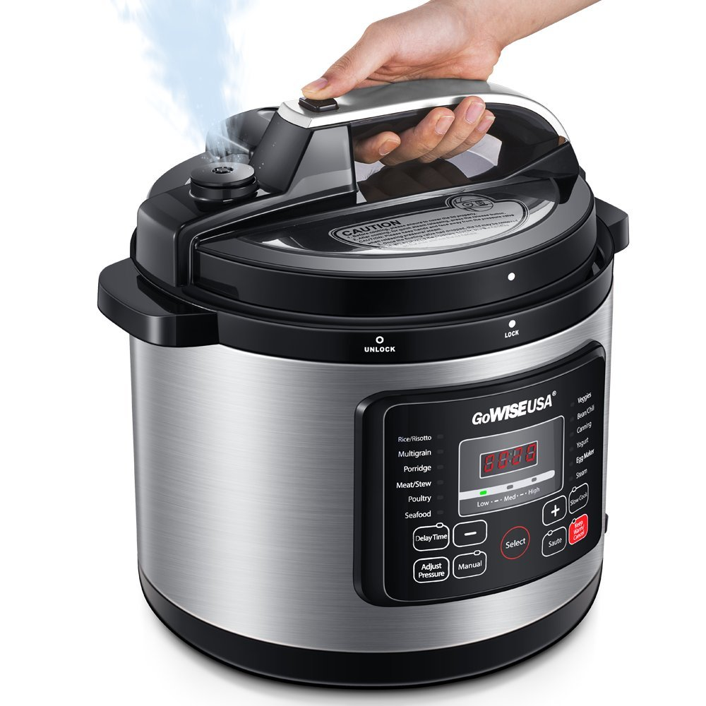 GoWISE USA GW22703 8-Qt 12-in-1 Electric Pressure Cooker