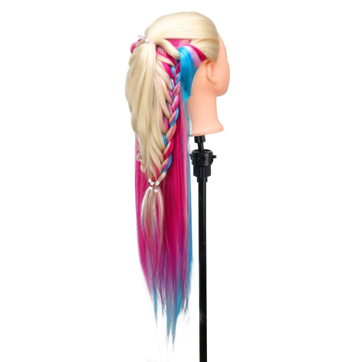MYSWEETY 29 Inch Colorful Hair Mannequin Head Hairdressing Practice Training Doll Heads Cosmetology Hair Styling Mannequins Heads with Clamp + Practice Tools by MYSWEETY (Image #5)