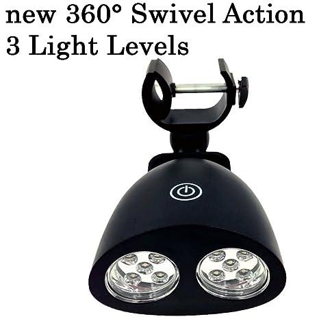 Barbacoa parrilla luz con 10 Super brillante LED luces ...