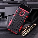 Galaxy S5 Active Case, Cocomii Robot Armor NEW [Heavy Duty] Premium Belt Clip Holster Kickstand Shockproof Hard Bumper Shell [Military Defender] Full Body Dual Layer Rugged Cover Samsung G870 (Red)