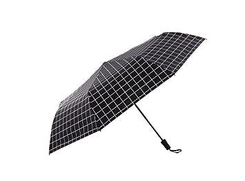 paraguas Paraguas plegable para hombre Umbrella para hombre sombrilla (Color : Negro)