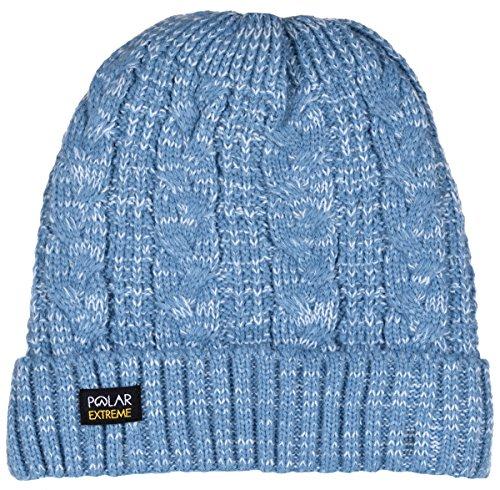 light blue knit beanie - 9