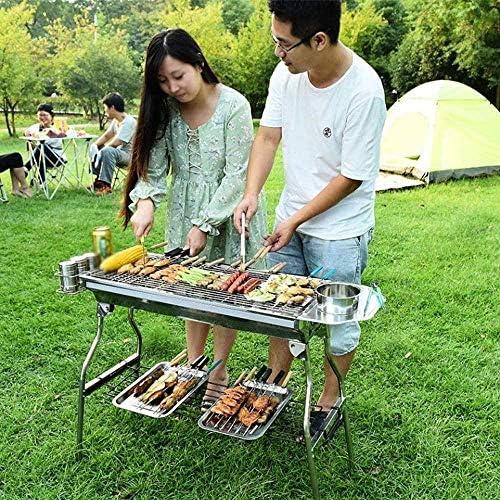 Barbecue HZY Portable, Acier Inoxydable épais Cuisine Ménage au Charbon Grill est Stable et Durable, 73 * 70 * 93.5cm