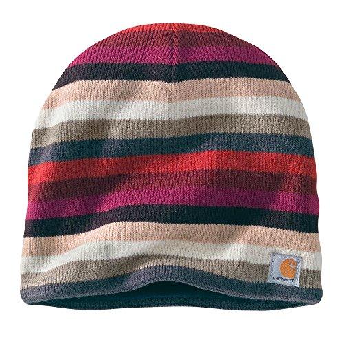 Carhartt Women's Striped Knit Hat, Raspberry, One (Striped Knit Hat Pattern)