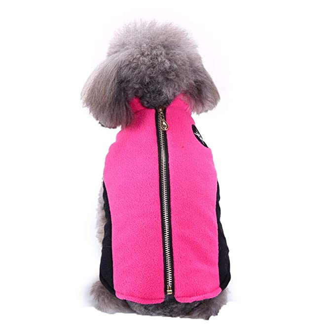 Amazon.com: Chaleco polar para perro, otoño, invierno frío ...