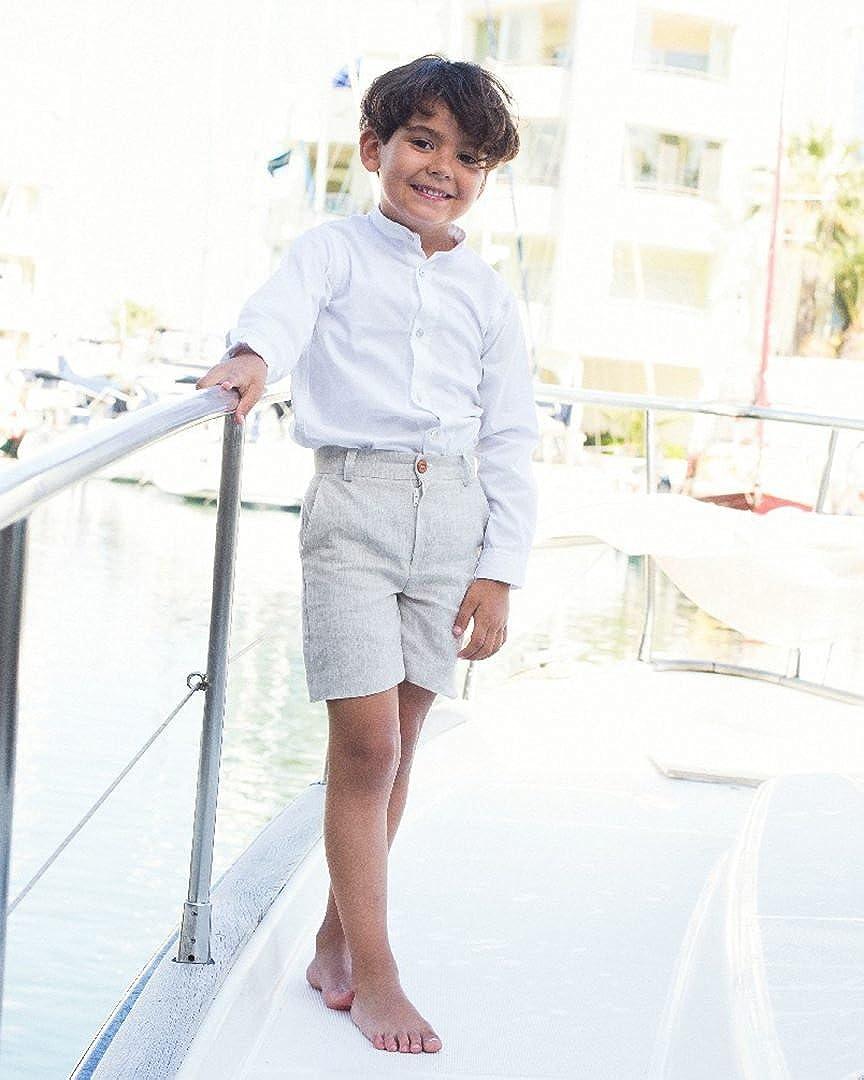 Conjunto Niño Pantalon Lino Y Camisa BLA: Amazon.es: Ropa y accesorios