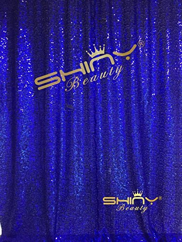 ShiDianYi 4FTx6FT Royal Blue Sequin Sequin Backdrops