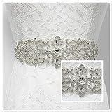 Trlyc New White Ivory Wedding Dress Sash, Simple and stylish Bridal Belts, Wedding Bridal Sash