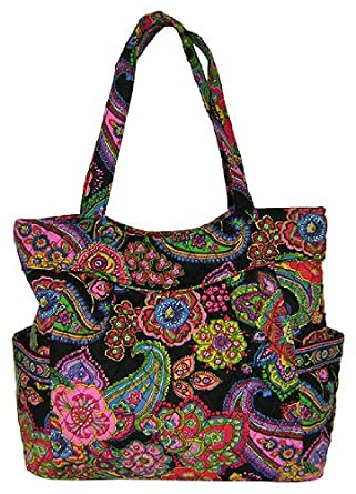 39f9f062d7 Amazon.com  Vera Bradley Pleated Tote in Symphony in Hue  Shoes