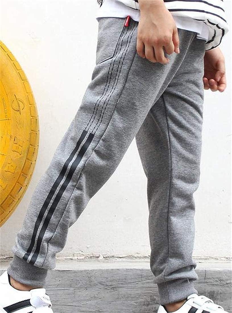 Etecredpow Big Boys Casual Sweatpant Sport Stripe Elastic Waist Jogger Pants