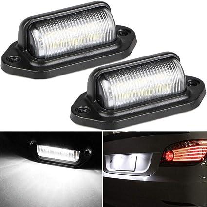 Amazon com: WarmCare 2Pcs LED License Plate Lamp Light 12V 6
