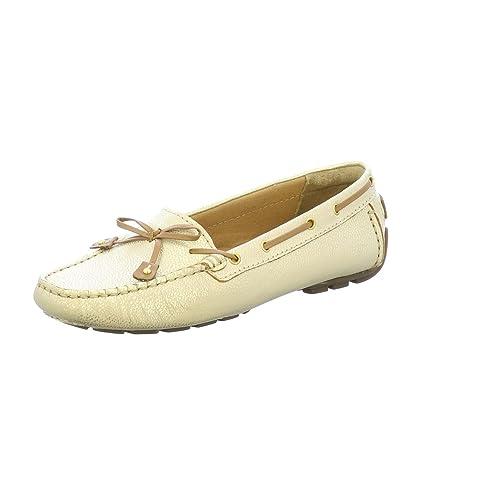 Clarks - Mocasines de Cuero para Mujer, Color Plateado, Talla 36 EU: Amazon.es: Zapatos y complementos