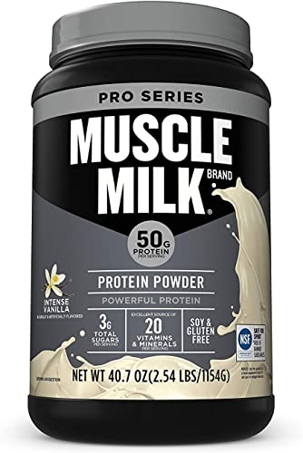 Muscle Milk Powder Pro Series, 50 Grams Protein, Intense Vanilla, 2.54 Pound