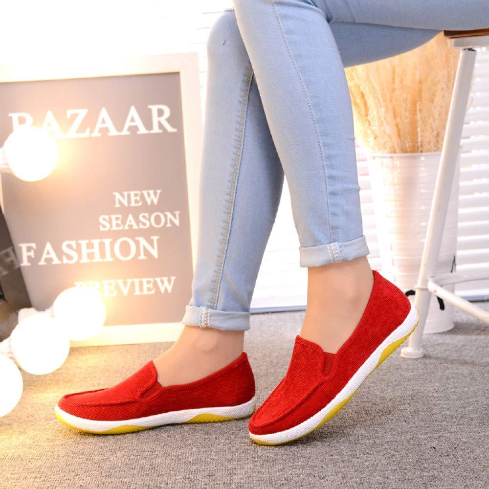 Hasag Chaussures de Sport Nouvelles Chaussures Simples Porter des Chaussures Chaussures décontractées Étudiantes Chaussures Chaussures Chaussures mères 37|red 3202db