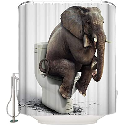 Image Unavailable Not Available For Color Funny Shower Curtain Elephant